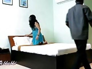 Mona Indian bhabhi teasing young room service boy naked